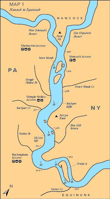 maps Delaware River Map on