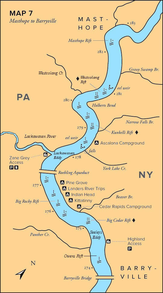 maps Delaware Water Gap Camping Map on
