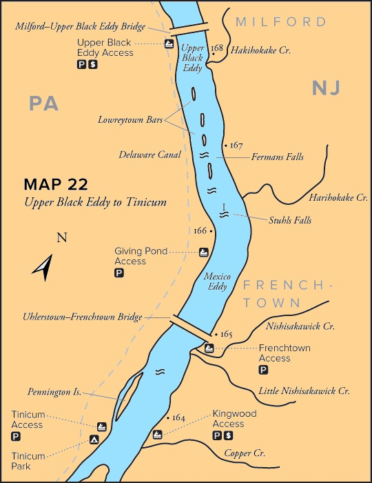 maps Delaware River Canoeing Map on